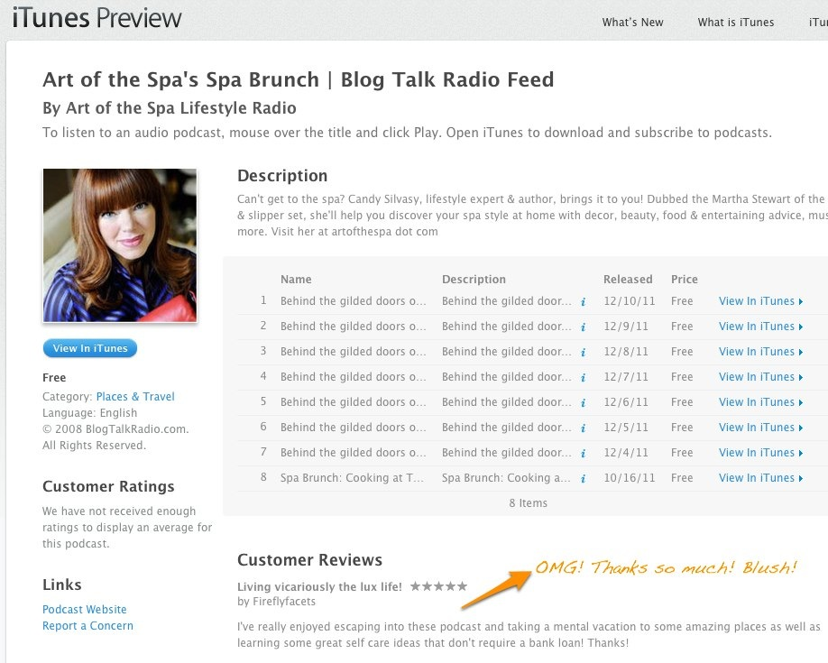 iTunes - Podcasts - Art of the Spa_s Spa Brunch | Blog Talk Radio Feed by Art of the Spa Lifestyle Radio