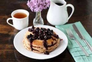 Golden Door Spa Healthy Blueberry Pancakes